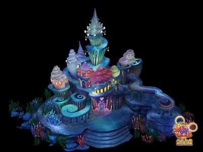 海底世界设计草图《梦幻迪士尼》海底世界的设计参考了众多实景并融入