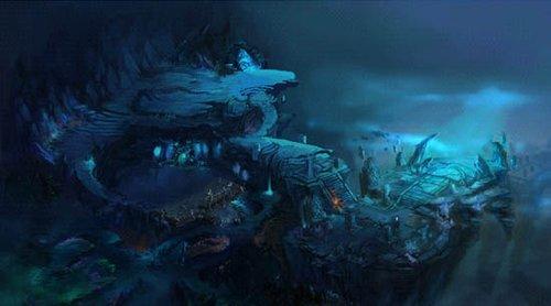 """海底深处某个神秘地带,隐藏着人类勇士从未抵达的""""海底地宫"""",这仿佛"""