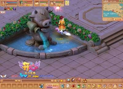 欧式喷泉游戏场景