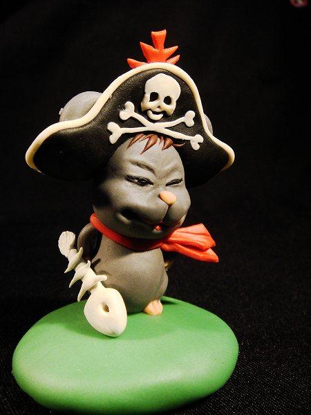 (压轴上场的海盗鼠.最满意的是帽子上的骷髅头,太帅了!