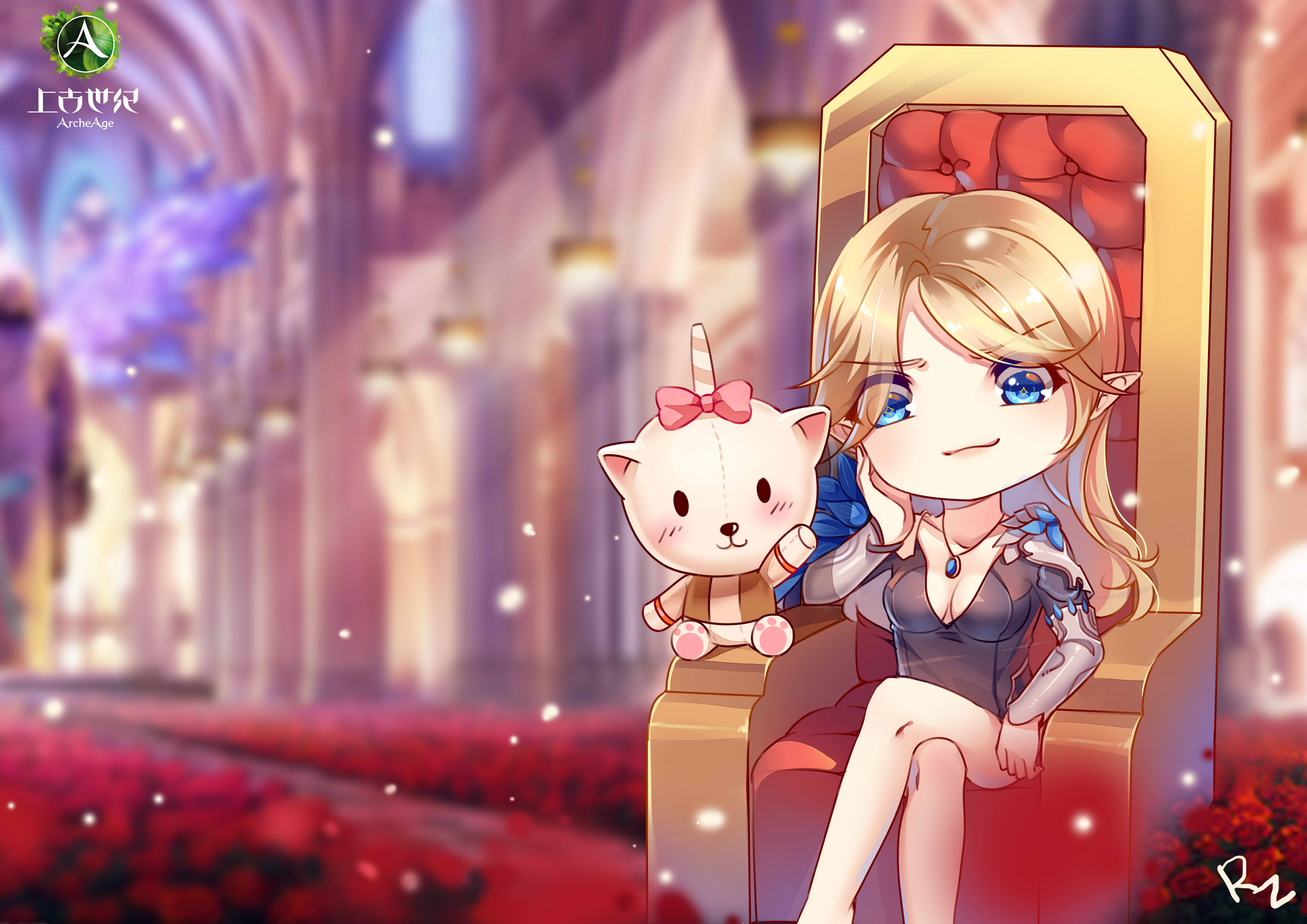 上古世纪玩家手绘赏 女王你好女王再见
