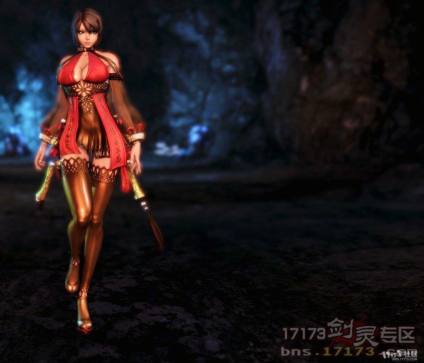 韩服剑灵大波龙女性感身材 姻缘时装展示