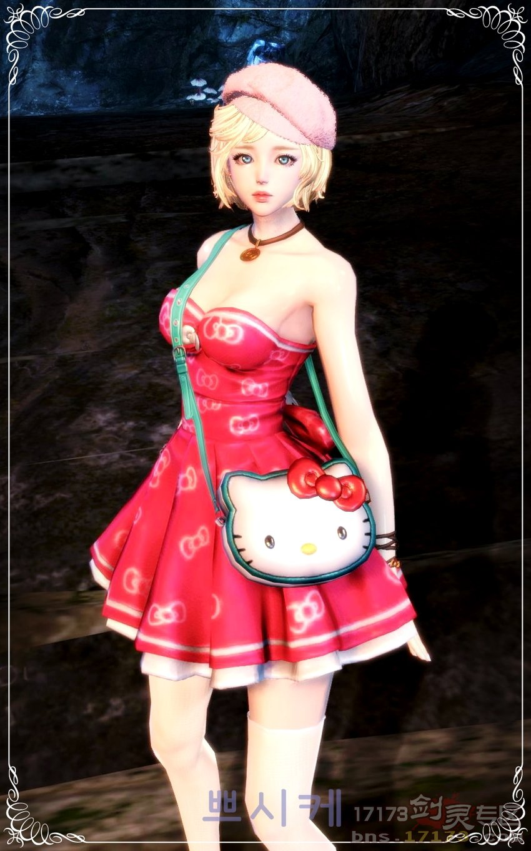 韩服玩家超美捏人 甜美的凯迪猫美少女