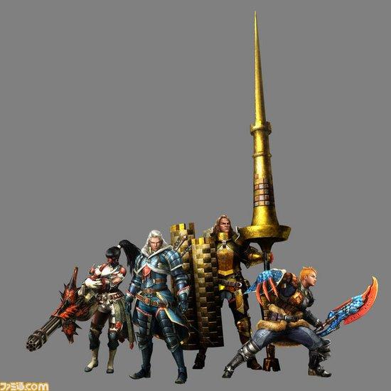 《怪物猎人4》NPC效果图