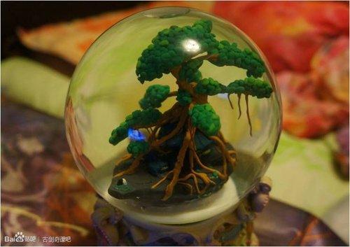 膜拜大神!《古剑2》玩家自制流月城水晶球