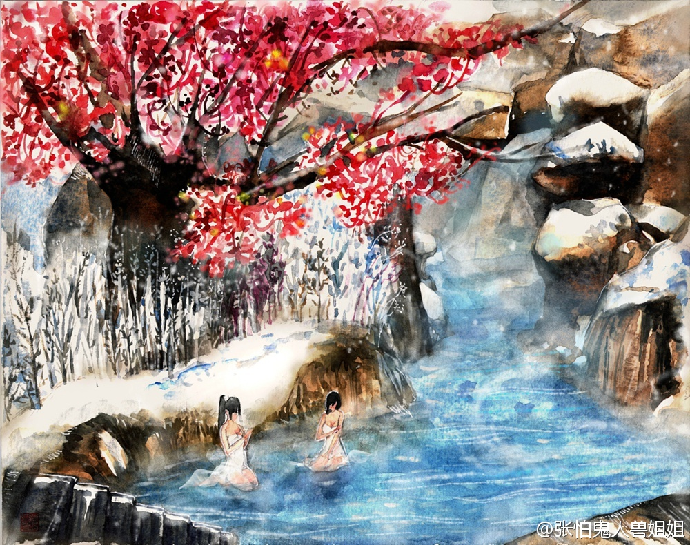 《古剑奇谭2》桃源仙境场景手绘图