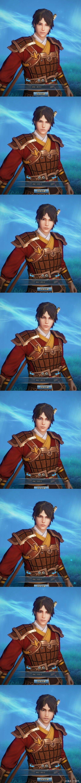 《古剑奇谭网络版》男性角色脸型及发型展示