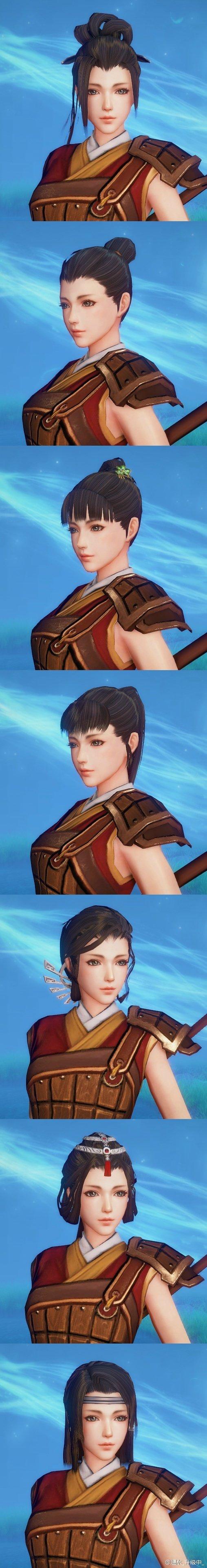 《古剑奇谭OL》首测女性角色脸型及发型展示