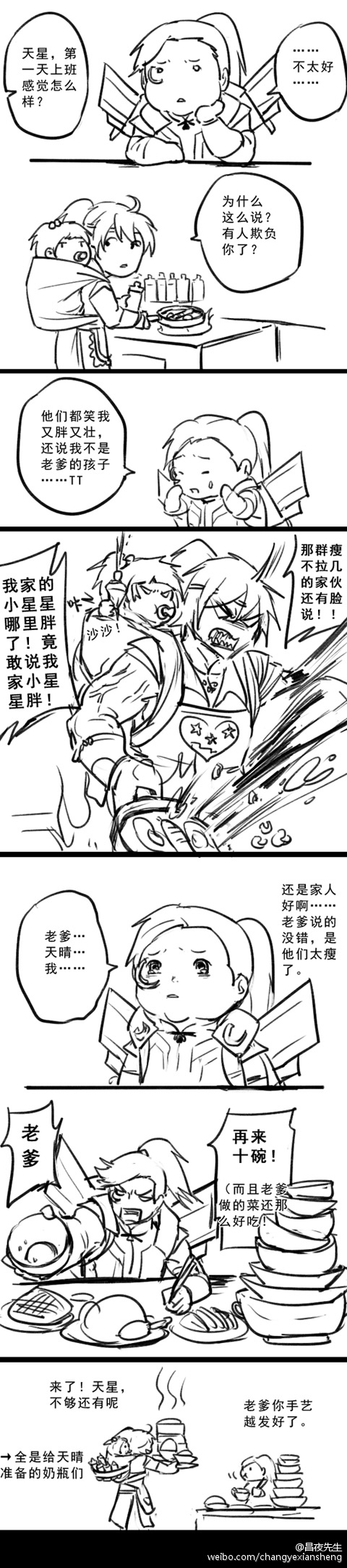 《古剑OL》搞笑同人漫画 乐天星第一天上班