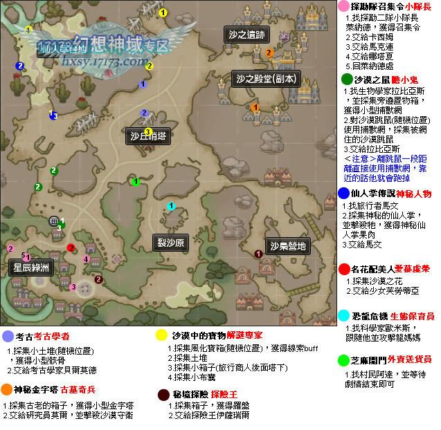 全地图隐藏任务详细攻略大全