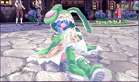 四系乃 绿色萌兔服
