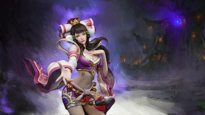 梦三国2蔡文姬壁纸