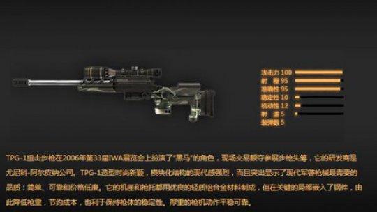 逆战枪械大讲堂 独特的单倍镜狙击枪-TPG1