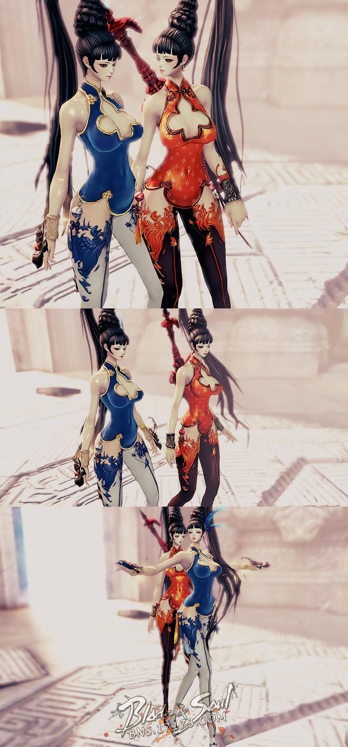 红蓝双生姐妹花 火鸟与蓝鸟的激情碰撞