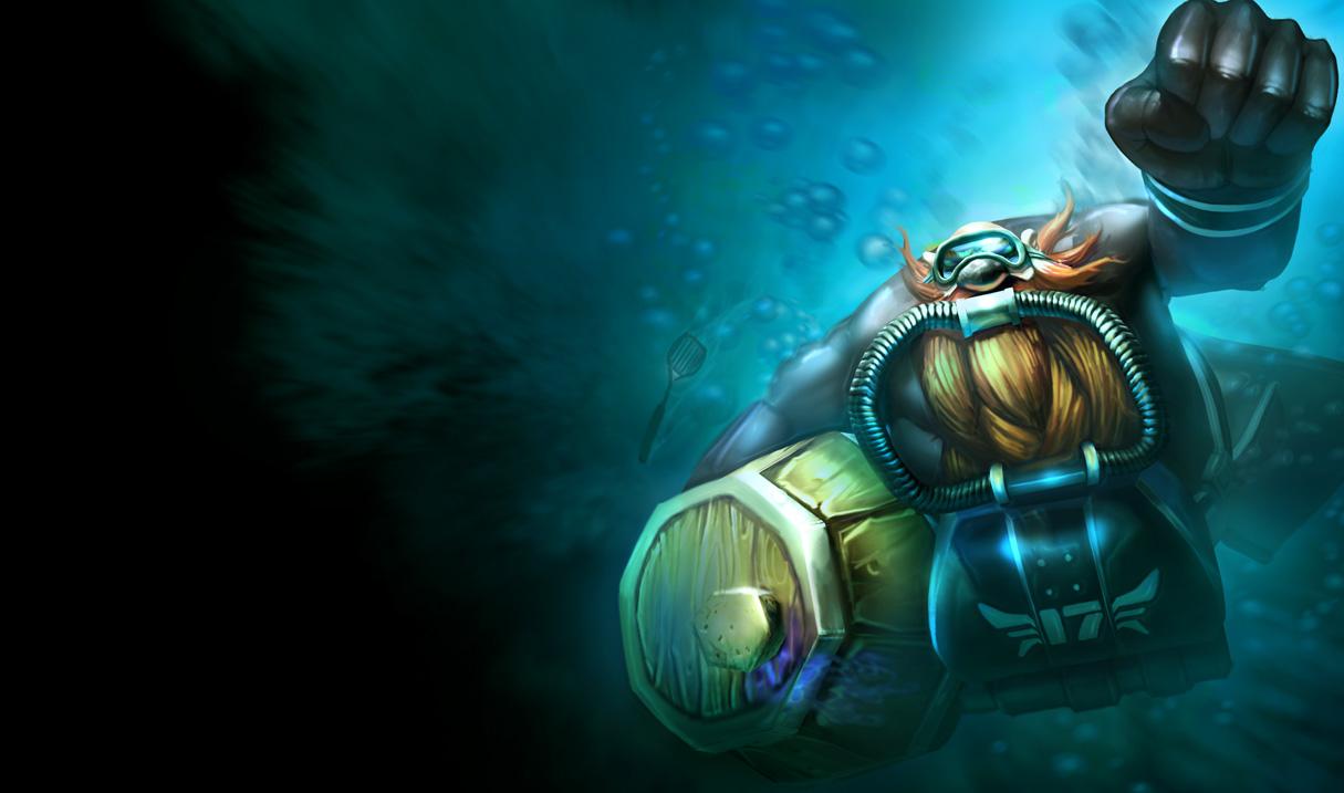 深海一号 卡萨丁-简直酷炫 英雄联盟六杀必备小伙伴开黑皮肤