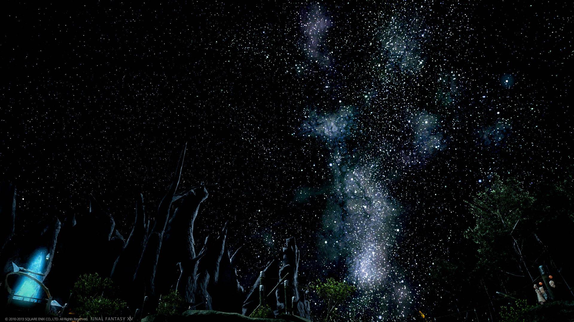《最终幻想14》高清壁纸系列【浪漫星空】图片