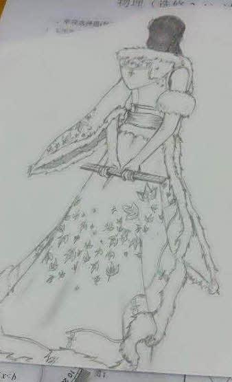 九阴真经玩家铅笔手绘图