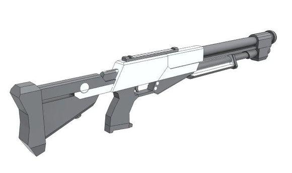 散弹枪纸模型设计直播