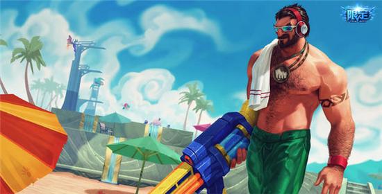 男枪日女鳄鱼泳池派对2   泳池派对格雷福斯:这款皮肤也是