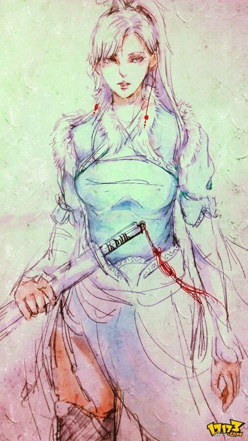 玩家手绘天涯明月刀太白女人物