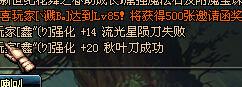DNF江西一区玩家+20秋叶刀出炉