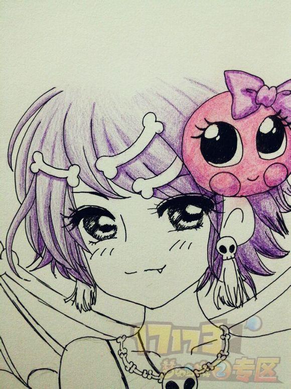 美女玩家梦幻人物彩绘栩栩如生_手绘,有才_17173梦幻2