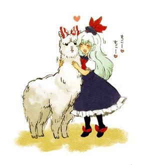 萌趣可爱的羊驼妮妮一面世,感觉整个人都萌萌哒.