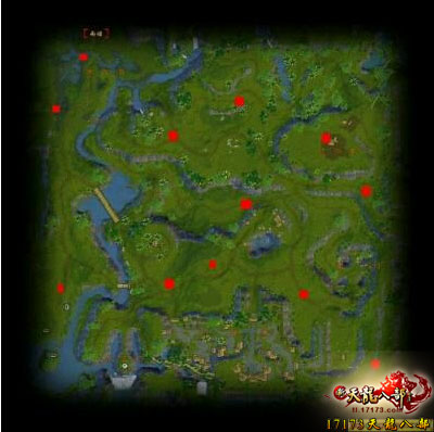 纯手绘地图解析; 献给天龙八部新手们的刷马教程