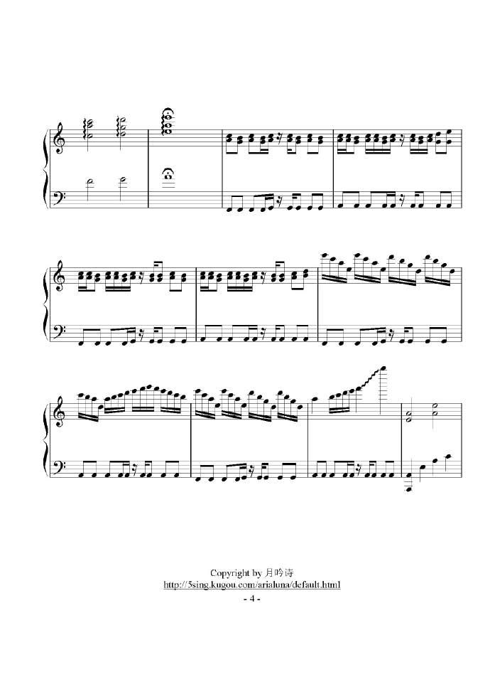 天刀达人改编钢琴版《时光》 附五线谱