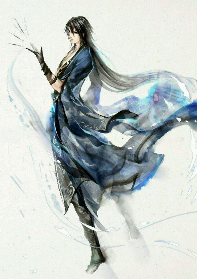 《仙剑奇侠传六》扁络桓水墨风同人图