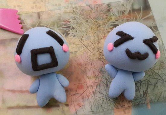 巧手玩家制作:可爱的超轻粘土版糖果小鬼