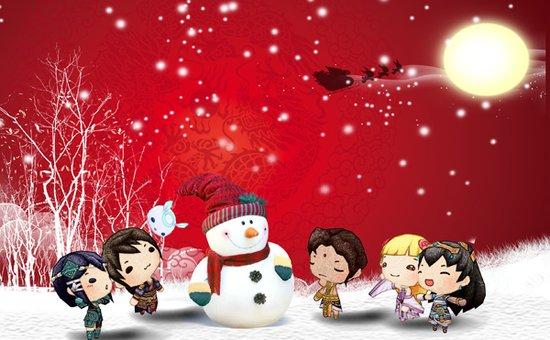 """中西合璧 《轩辕剑6》""""圣诞&元旦""""节日壁纸设计活动"""