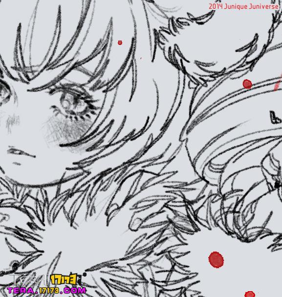 tera玩家手绘图 飞剑士萌货艾琳