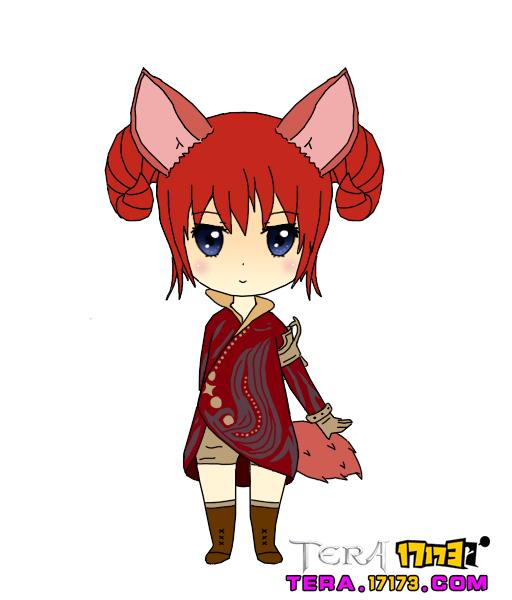 TERA玩家鼠绘同人艾琳 Q版小萌物