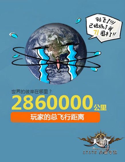 天谕首测玩家飞行距离累积可绕地球71圈半!