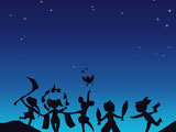 天谕玩家原创唯美同人手绘 在星空下的谜蝶