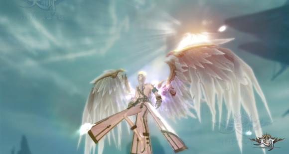 天諭翅膀飛升效果展示:雙翼飛羽 華麗變身