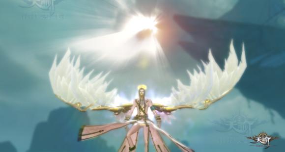 天谕翅膀飞升效果展示:双翼飞羽 华丽变身