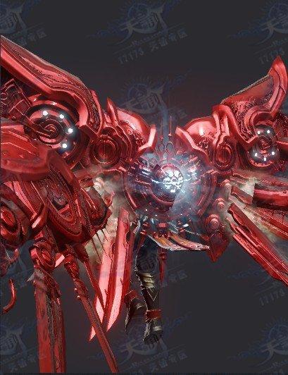 難得一見!據說是全服唯一的紅色版領主神翼