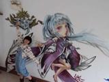 玩家自制游戲同人【墻繪】:紫薇套裝的少女