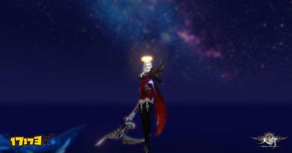 夜空下风景:女玩家晒驱魔时装与玄鲸的合影