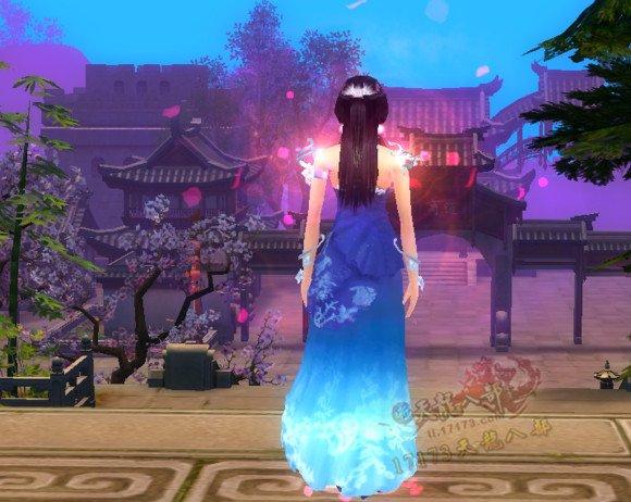 天龙八部玉锦金纱时装的各种配饰效果外观