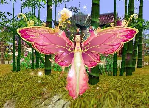 女神活动时装和坐骑绮梦蝶游戏效果截图