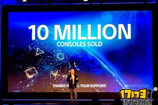 索尼在Gamescom上宣布PS4销量突破1000万台
