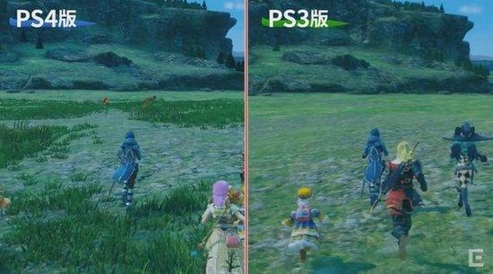 SE日前公开《星之海洋5》PS4/PS3实机视频对比,从视频中可以看出,PS4版相对于PS3版纹理更清晰,城镇中的NPC也更多,在野外的话,地面细节也更加丰富。 游戏不支持跨版本交叉存档,PS4版可以使用Share功能。画面方面PS4版1080P、60fps,PS3版为720p、30fps,描绘上PS4版也将会更加细致,并且能够表示出远距离的物体以及怪物等建模,PS3版则会相对简略化,并且不会表示出远距离的物体与怪物等建模。