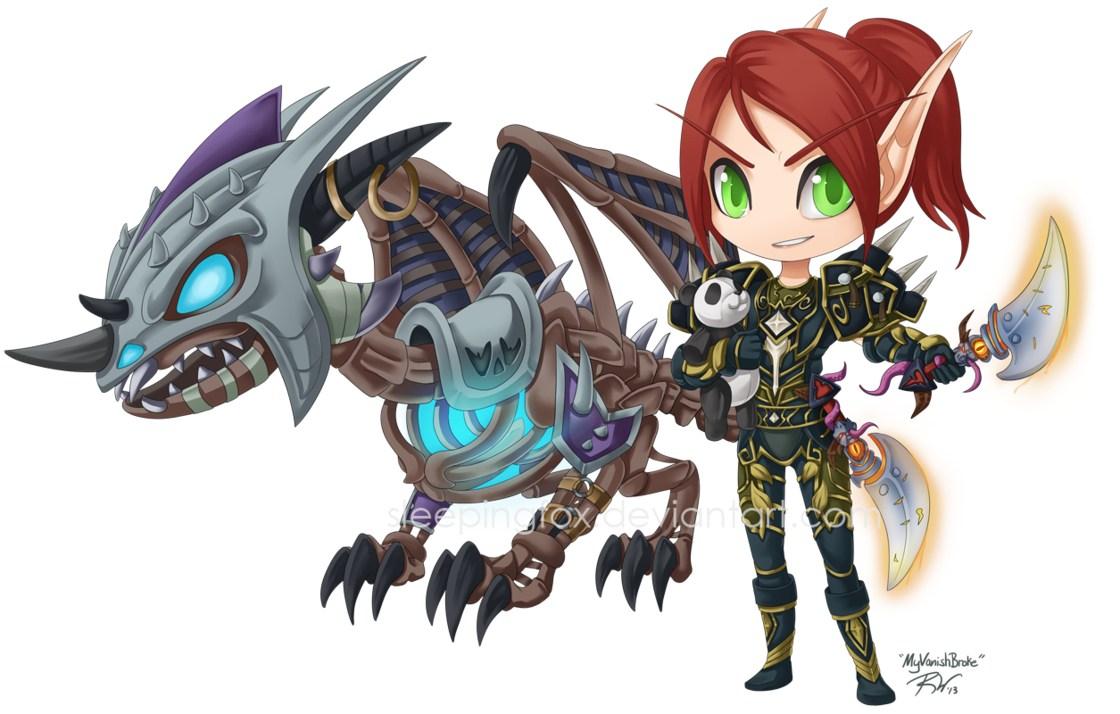 美国女玩家原创超萌系《魔兽世界》角色插画