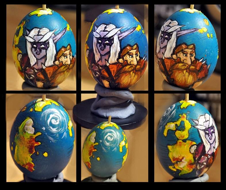 玩家手工:魔兽世界复活节彩蛋手绘作品欣赏