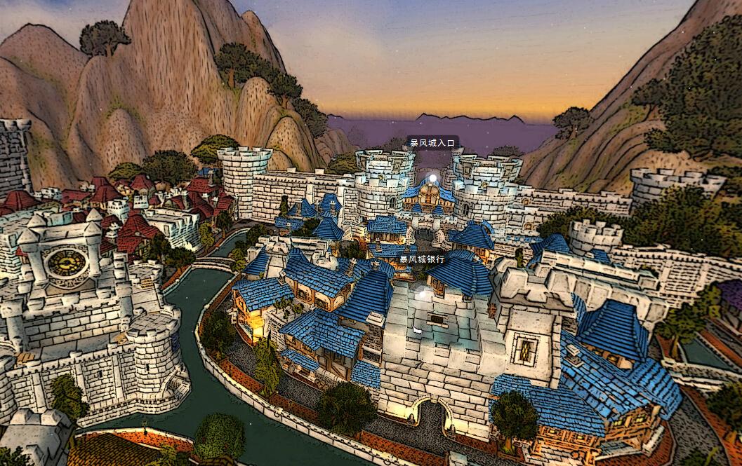简直酷炫!魔兽世界部分3d全景地图欣赏!