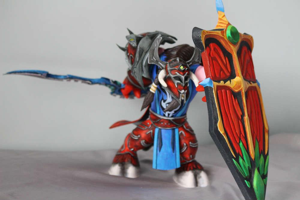 魔兽世界玩家手工作品:牛头人防御战士