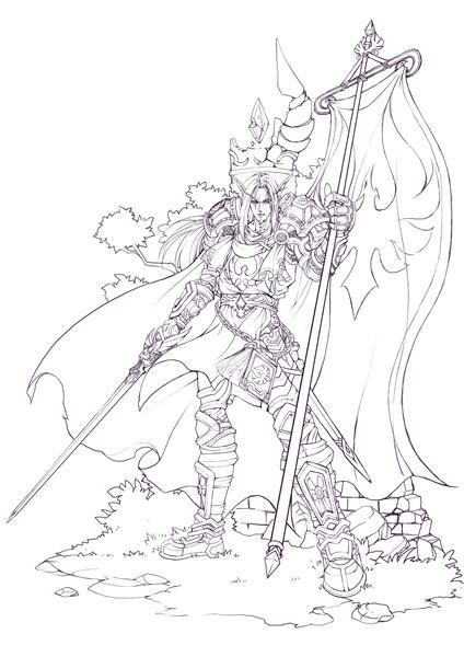 魔獸世界 - 漫畫壁紙-血精靈圣騎士
